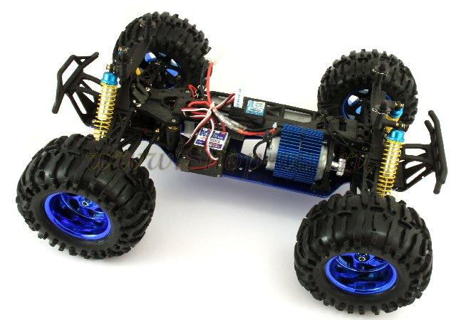 Полноприводный внедорожник- модель радиоуправляемой машины HL Mad Truck 3851-2 - выполнена в масштабе 1:10.